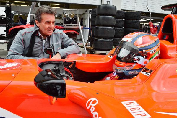 Kevin Ceccon (ITA) Arden International and Dr Riccardo Ceccarelli (ITA) at GP3 Series, Rd2, Spielberg, Austria, 19-21 June 2015.