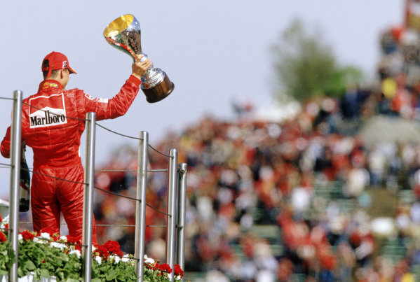 2004 San Marino Grand Prix, Imola, Italy. 23rd - 25th April. Michael Schumacher picks up his 4th consecutive win of the season. World Copyright: Steven Tee/LAT Photographic Ref: 35mm Transparency A12