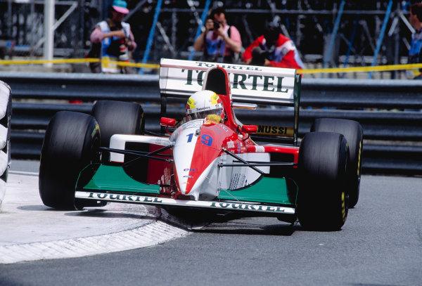 1994 Monaco Grand Prix.Monte Carlo, Monaco. 12-15 May 1994.Olivier Beretta (Larousse LH94 Ford) 8th position.Ref-94 MON 78.World Copyright - LAT Photographic