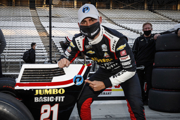 NTT P1 award winner #21: Rinus VeeKay, Ed Carpenter Racing Chevrolet, pole