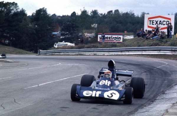 1973 Canadian Grand Prix.Mosport Park, Ontario, Canada.Jackie Stewart (Tyrrell 006 Ford) 5th position in his last Grand Prix race.World Copyright - LAT Photographic