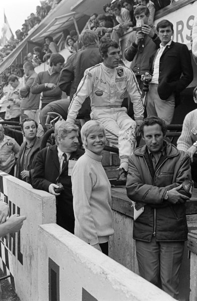 Vic Elford and a smiling wife Mary, in the pits