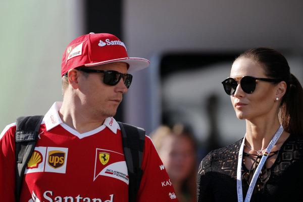 Kimi Raikkonen (FIN) Ferrari with hisa wife Minttu Virtanen (FIN) at Formula One World Championship, Rd13, Belgian Grand Prix, Qualifying, Spa Francorchamps, Belgium, Saturday 27 August 2016.