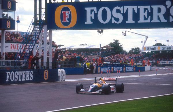 1992 British Grand Prix. Silverstone, England. 10-12 July 1992. Nigel Mansell (Williams FW14B Renault) 1st position. Ref-92 GB 01. World Copyright - LAT Photographic