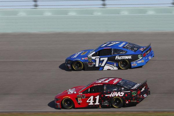 #41: Daniel Suarez, Stewart-Haas Racing, Ford Mustang Haas Automation #17: Ricky Stenhouse Jr., Roush Fenway Racing, Ford Mustang Fastenal