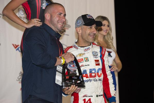Third place finisher Tony Kanaan, A.J. Foyt Enterprises Chevrolet