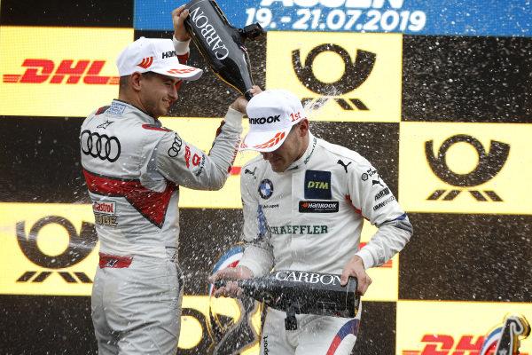 Podium: Marco Wittmann, BMW Team RMG, Nico Müller, Audi Sport Team Abt Sportsline.