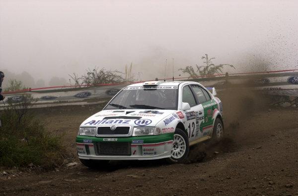 2001 World Rally Championship. ArgentinaMay 3rd-6th, 2001Brono Thiry on stage three.Photo: Ralph Hardwick/LAT