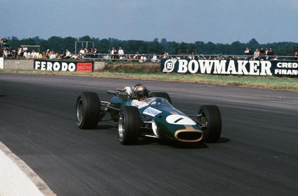 Silverstone, England. 13th - 15th July 1967. Jack Brabham (Brabham BT24-Repco) 4th position, action.Ref: 67 GB 03 World Copyright: LAT Photographic