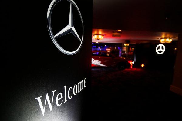 2014 Autosport Awards. Grosvenor House Hotel, Park Lane, London. Sunday 7 December 2014. Mercedes Benz stand. World Copyright: Sam Bloxham/LAT Photographic. ref: Digital Image _14P3416