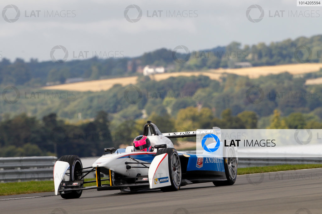FIA Formula E Test Day, Donington Park, UK.  19th August 2014. Franck Montagny, Andretti Autosport. Photo: Adam Warner/FIA Formula E ref: Digital Image _MG_5230