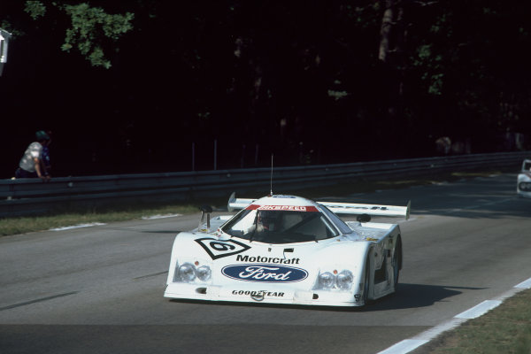 1982 Le Mans 24 hours. Le Mans, France. 19th - 20th June 1982. Klaus Ludwig / Marc Surer (Ford C100), retired, action.  World Copyright: LAT Photographic. Ref: 82LM36.