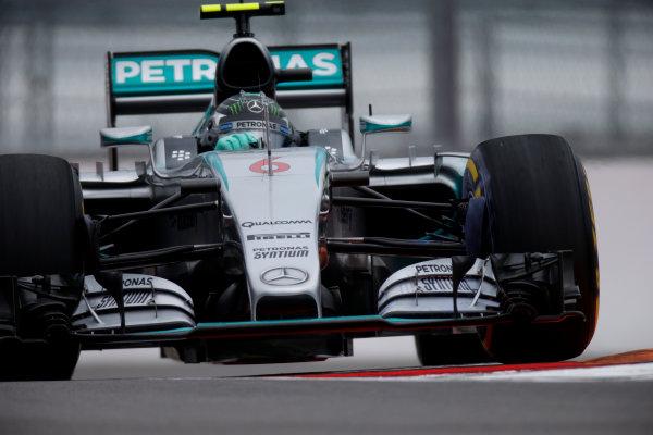 Sochi Autodrom, Sochi, Russia. Friday 9 October 2015. Nico Rosberg, Mercedes F1 W06 Hybrid. World Copyright: Glenn Dunbar/LAT Photographic ref: Digital Image _W2Q9722
