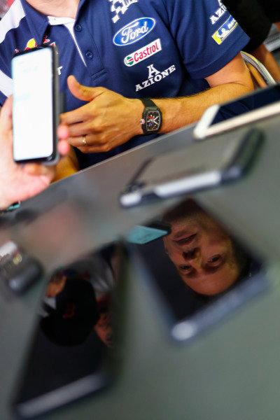 A reflection of five times WRC Champion Sébastien Ogier