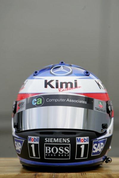 2005 Belgian Grand Prix ÐSunday Race,Spa-Francorchamps, Belgium .11th  September 2005Kimi Raikkonen, McLaren Mercedes MP4-20, helmet.World Copyright:Charles Coates/LAT Photographic ref:Digital Image Only (a high res version is available on request)