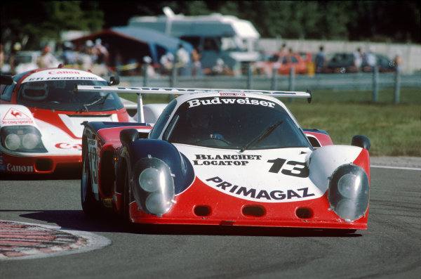 Le Mans, France. 16th -17th  June 1984.Yves Courage/Michel Dubois/John Jellinek (Cougar C02 Ford), retired, action. World Copyright: LAT Photographic.Ref:  84LM29