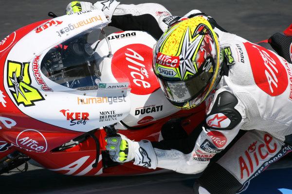 Laguna Seca, Monterey, USA.19 July 2008, MotoGP Qualifying.Toni Elias Alice Ducati Team.World Copyright: Martin Heath / LAT Photographicref: Digital Image BPI_Moto 5e2k