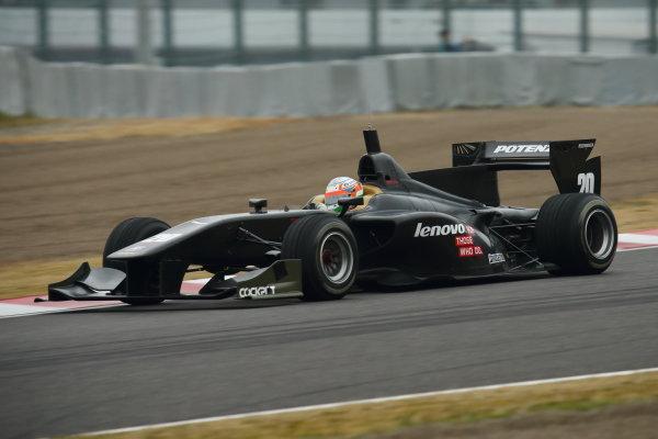 2014 Super Formula Test   Suzuka, Japan. 1st - 2nd March 2014.  Kumar Ram Narain Karthikeyan ( #20 TEAM IMPUL ) action. World Copyright: Yasushi Ishihara/LAT Photographic. Ref: 2014SF_SUZUKA_TEST_011