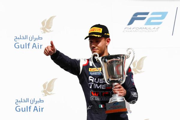 2017 FIA Formula 2 Round 1. Bahrain International Circuit, Sakhir, Bahrain.  Sunday 16 April 2017. Luca Ghiotto (ITA, RUSSIAN TIME)  Photo: Zak Mauger/FIA Formula 2. ref: Digital Image _J6I1768