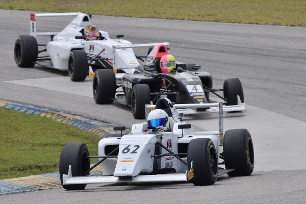 2017 F4 US Championship Rounds 1-2-3 Homestead-Miami Speedway, Homestead, FL USA Sunday 9 April 2017 #62 of Raphael Forcier followed by #4 of Jim Goughary Jr & #9 of Mathais Soler-Obel World Copyright: Dan R. Boyd/LAT Images