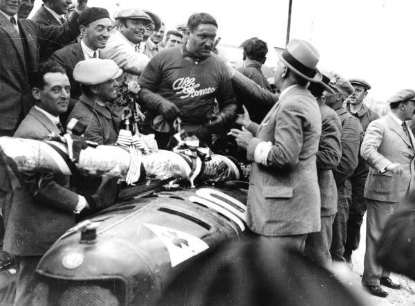 Lyons, France.3 August 1924.Giuseppe Campari (Alfa Romeo P2), 1st position.World Copyright - LAT Photographic