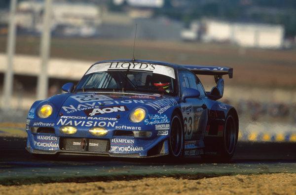 Le Mans, France. 12th - 13th June 1999.Hubert Haupt/Hugh Price/John Robinson (Porsche 993 GT2), retired, action. World Copyright: LAT Photographic.Ref:  99LM22.