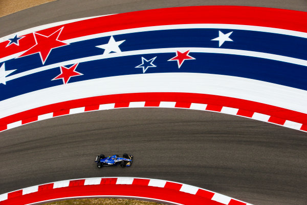 Circuit of the Americas, Austin, Texas, United States of America. Friday 20 October 2017. Charles Leclerc, Sauber C36 Ferrari. World Copyright: Charles Coates/LAT Images  ref: Digital Image AN7T2501