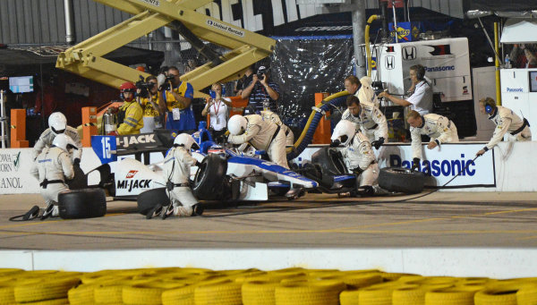 22-23 June, 2012, Newton, Iowa USA#15 Takuma Sato Rahal Letterman Lanigan Racing Honda pitstop(c)2012, Dan R. Boyd LAT Photo USA