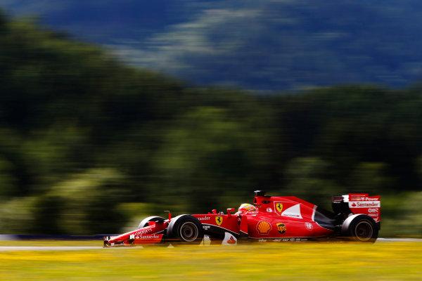 Red Bull Ring, Spielberg, Austria. Wednesday 24 June 2015. Esteban Gutierrez, Ferrari SF15-T. World Copyright: Glenn Dunbar/LAT Photographic. ref: Digital Image _89P7364