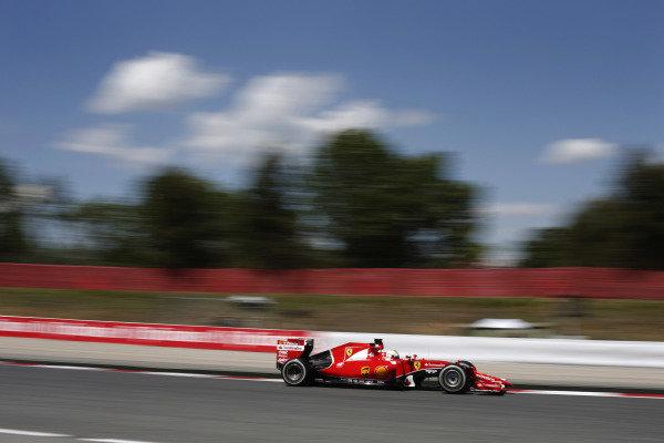 Circuit de Catalunya, Barcelona, Spain. Friday 8 May 2015. Sebastian Vettel, Ferrari SF-15T. World Copyright: Steven Tee/LAT Photographic. ref: Digital Image _X0W5087