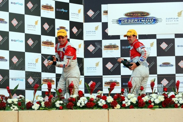 Jamie Whincup, and Craig Lowndes (aust) Team vodafone 888 Ford made it the first 1-2 for the 888 team  Gulf Air Desert 400 Rd 12 V8 Supercars Bahrain International Circuit Bahrain V8 Supercars, Rd12, Desert 400, Bahrain International Circuit, Bahrain, 6-8 November 2008.