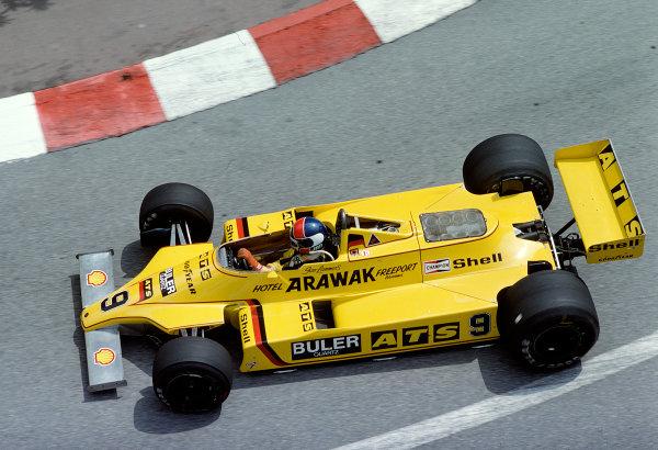 1980 Monaco Grand Prix.Monte Carlo, Monaco.15-18 May 1980.Jan Lammers (ATS D4 Ford).Ref-80 MON 36.World Copyright - LAT Photographic
