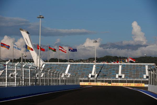 Sochi Autodrom, Sochi, Russia. Thursday 9 October 2014. A view of the new circuit. World Copyright: Glenn Dunbar/LAT Photographic. ref: Digital Image _W2Q9396