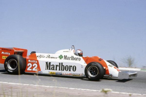 1981 Spanish Grand Prix.Jarama, Spain. 19-21 June 1981.Mario Andretti (Alfa Romeo 179C), 8th position.World Copyright: LAT PhotographicRef: 35mm transparency 81ESP33