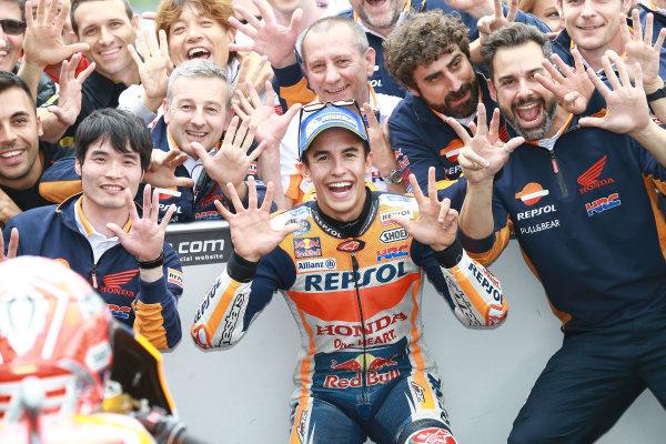 2017 MotoGP Championship - Round 9 Sachsenring, Germany Sunday 2 July 2017 Race winner Marc Marquez, Repsol Honda Team World Copyright: David Goldman/LAT Images ref: Digital Image 34042