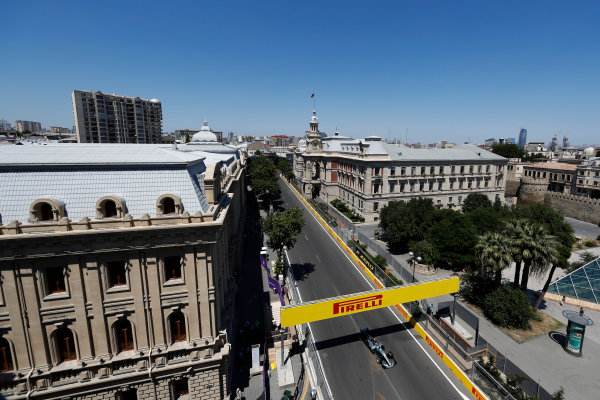 Baku City Circuit, Baku, Azerbaijan. Saturday 24 June 2017. Valtteri Bottas, Mercedes F1 W08 EQ Power+.  World Copyright: Glenn Dunbar/LAT Images ref: Digital Image _X4I0991