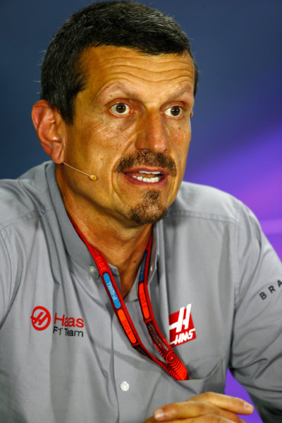 Marina Bay Circuit, Marina Bay, Singapore. Friday 16 September 2016. Guenther Steiner, Team Principal, Haas F1, in the Team Principals Press Conference. World Copyright: Andy Hone/LAT Photographic ref: Digital Image _ONY7343