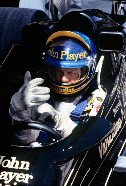 Jacarepagua, Rio de Janeiro, Brazil. 27-29 January 1978. Ronnie Peterson ( Lotus 78-Ford), retired, portrait.  World Copyright: LAT Photographic. Ref: 78BRA27
