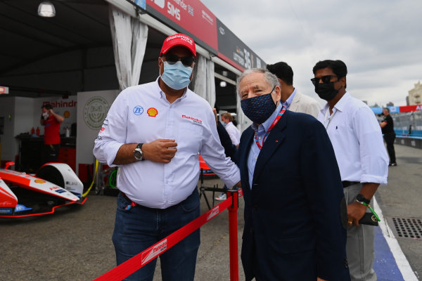 Dilbagh Gill, CEO and Team Principal, Mahindra Racing, with Jean Todt, President, FIA