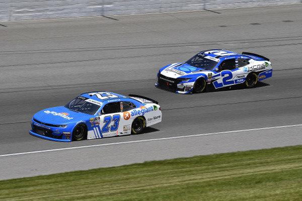 #23: John Hunter Nemechek, GMS Racing, Chevrolet Camaro Fire Alarm Services, INC and #2: Tyler Reddick, Richard Childress Racing, Chevrolet Camaro KC Motorgroup