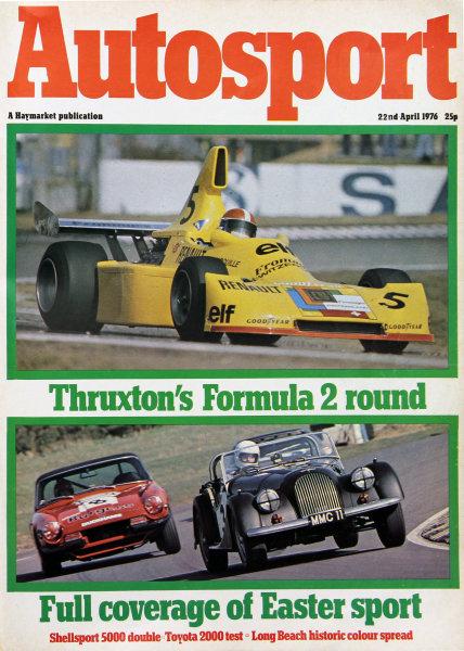 Cover of Autosport magazine, 22nd April 1976