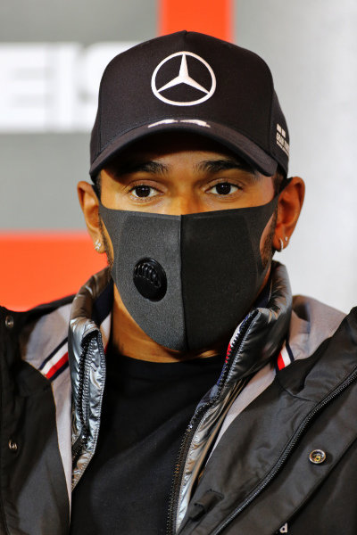 Lewis Hamilton, Mercedes-AMG Petronas F1 in the press conference