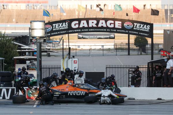 Patricio O'Ward, Arrow McLaren SP Chevrolet, in the pitlane Copyright: Joe Skibinski - IMS Photo