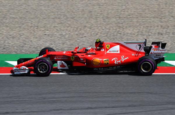 Kimi Raikkonen (FIN) Ferrari SF70-H at Formula One World Championship, Rd9, Austrian Grand Prix, Practice, Spielberg, Austria, Friday 7 July 2017.