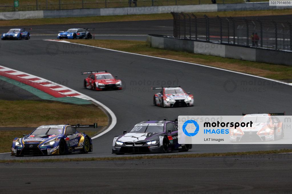 Yuji Kunimoto, Lexus Team Bandoh Lexus LC500, Kamui Kobayashi, BMW Team RBM BMW M4 DTM, Kazuki Nakajima, Lexus Team TOM'S Lexus LC500.