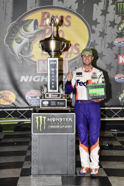 #11: Denny Hamlin, Joe Gibbs Racing, Toyota Camry FedEx Freight wins