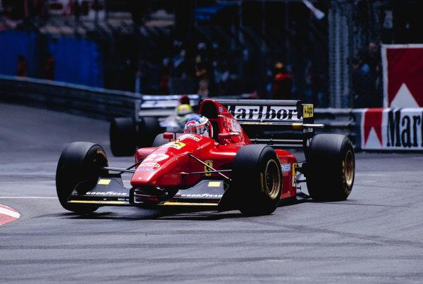1994 Monaco Grand Prix.Monte Carlo, Monaco. 12-15 May 1994.Jean Alesi (Ferrari 412T1) 5th position.Ref-94 MON 72.World Copyright - LAT Photographic