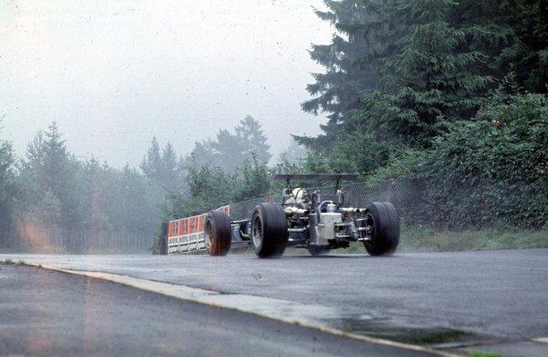 1968 German Grand Prix.Nurburgring, Germany.2-4 August 1968.Jean-Pierre Beltoise (Matra MS11).Ref-68 GER 06.World Copyright - LAT Photographic