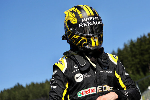 Nico Hulkenberg, Renault F1 Team, in Parc Ferme after the race