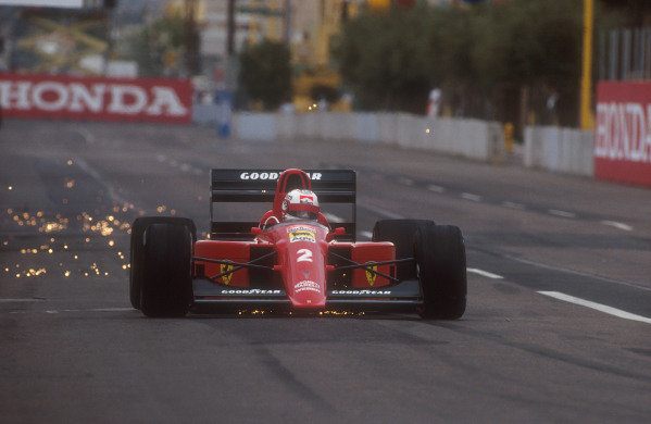 1990 United States Grand Prix.Phoenix, Arizona, USA.9-11 March 1990.Nigel Mansell (Ferrari 641). He exited the race after his engine blew on lap 50.Ref-90 USA 04.World Copyright - LAT Photographic